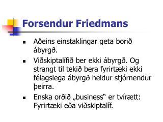 Forsendur Friedmans