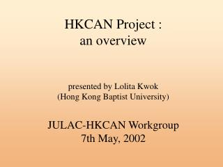 HKCAN Project