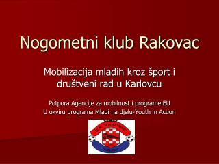 Nogometni klub Rakovac
