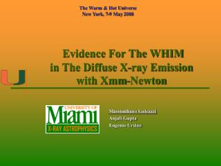 Evidence For The WHIM in The Diffuse X-ray Emission with Xmm-Newton