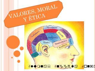VALORES, MORAL Y ÉTICA