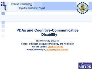 PDAs and Cognitive-Communicative Disability  ________________________________________________