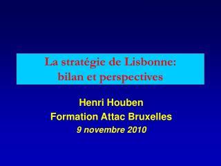 La stratégie de Lisbonne: bilan et perspectives