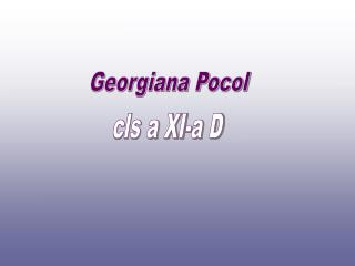 Georgiana Pocol