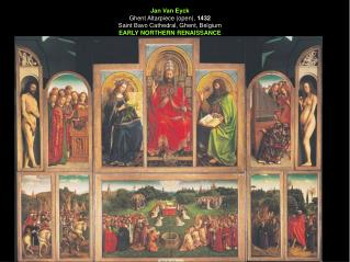 Jan Van Eyck Ghent Altarpiece (open),  1432