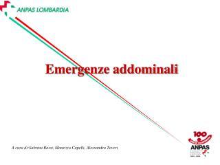 Emergenze addominali
