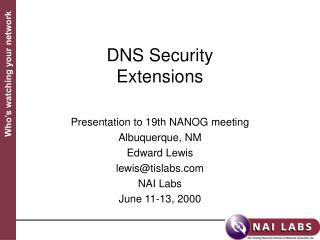 DNS Security Extensions