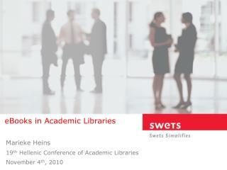 EBooks in Academic Libraries