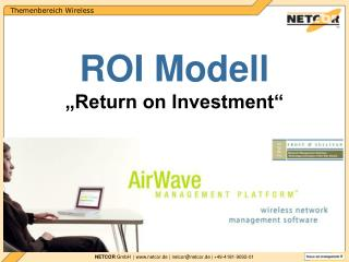 "ROI Modell ""Return on Investment"""
