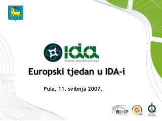 Europski tjedan u IDA-i