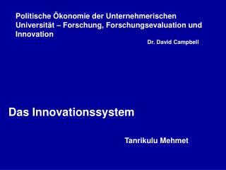 Das Innovationssystem Tanrikulu Mehmet