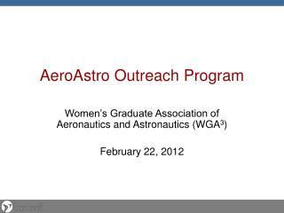 AeroAstro  Outreach Program