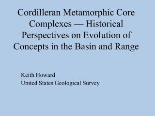 Keith Howard United States Geological Survey