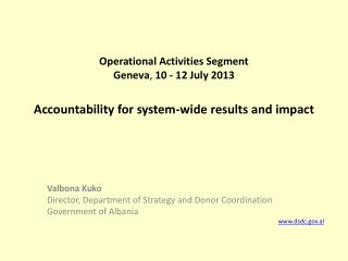 Accountability for system-wide results and impact
