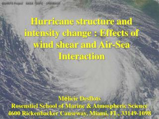 Hurricane structure and intensity change : Effects of wind shear and Air-Sea Interaction