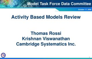 Model Task Force Data Committee