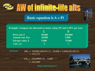 AW of infinite-life alts