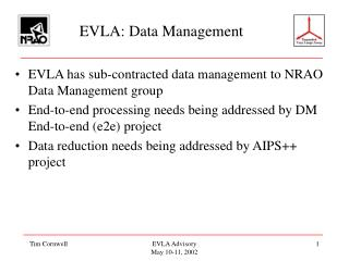EVLA: Data Management