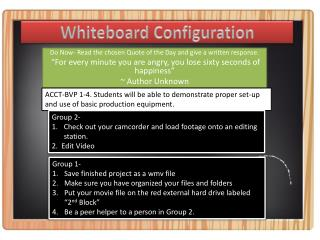 Whiteboard  Configuration