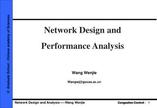 Network Design and  Performance Analysis