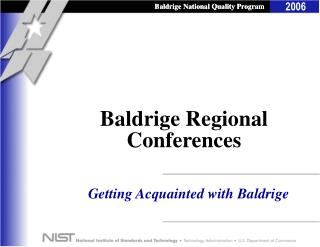 Baldrige Regional Conferences