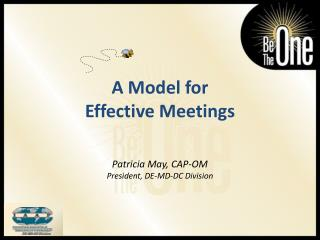 A Model for Effective Meetings