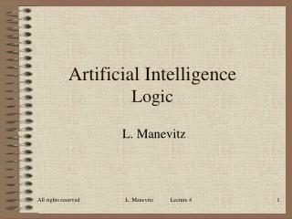 Artificial Intelligence Logic