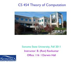 CS 454 Theory of Computation