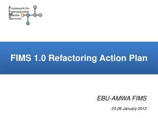 FIMS 1.0 Refactoring Action Plan
