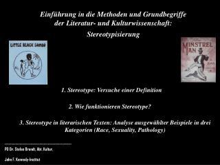 1. Stereotype: Versuche einer Definition