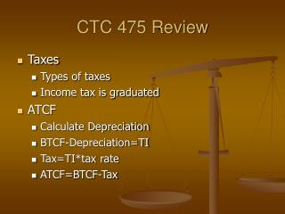 CTC 475 Review