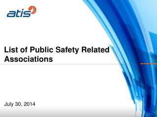 List of Public Safety Related Associations