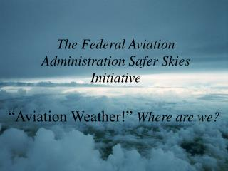 The Federal Aviation Administration Safer Skies Initiative