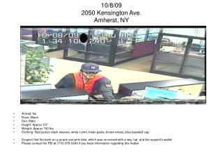 10/8/09 2050 Kensington Ave. Amherst, NY