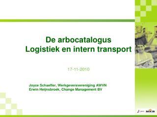 De arbocatalogus Logistiek en intern transport