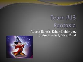 Team #13  Fantasia