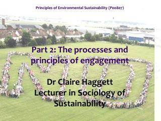 Principles of Environmental Sustainability (P00807)