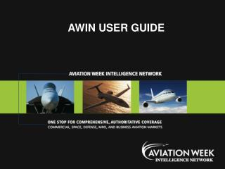 AWIN USER GUIDE