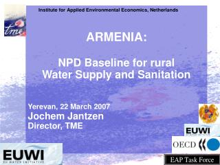 ARMENIA:  NPD Baseline for rural Water Supply and Sanitation  Yerevan, 22 March 2007