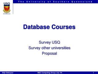 Database Courses