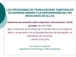 Descripción de los programas: Para trabajadores calificados, Para trabajadores no calificados,