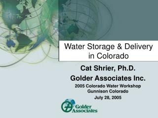 Water Storage & Delivery in Colorado