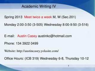 Academic Writing IV
