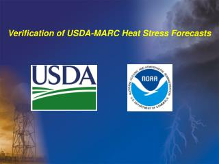 Verification of USDA-MARC Heat Stress Forecasts