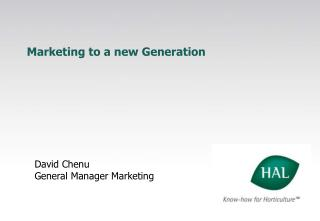 Marketing to a new Generation