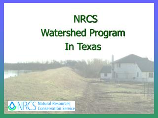 NRCS Watershed Program In Texas