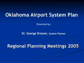Regional Planning Meetings 2005