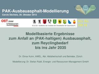 PAK-Ausbauasphalt-Modellierung Cercle  Déchets , 29. Oktober 2013