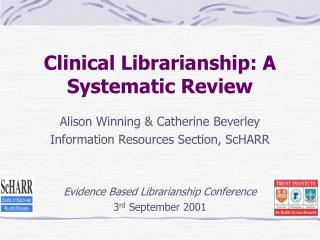 Clinical Librarianship: A Systematic Review