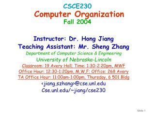 CSCE230  Computer Organization Fall 2004